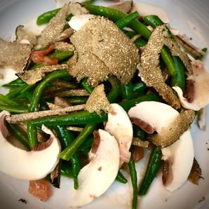 Salade d'haricots verts aux truffes