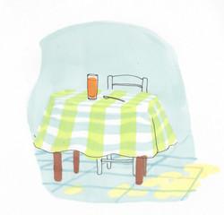table nappe cuisine