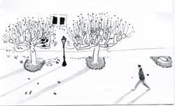 croquis jardin peyrou