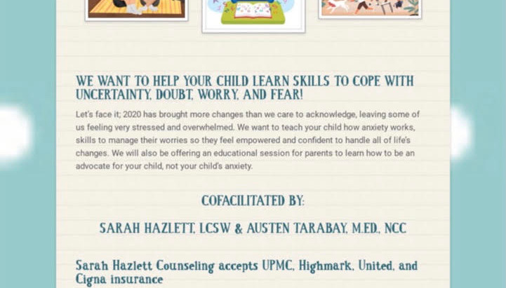 Anxiety Group for Tweens & Teens!