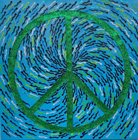 I come in peace (in blue)