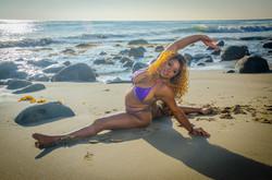 Beach shoot purple bikini