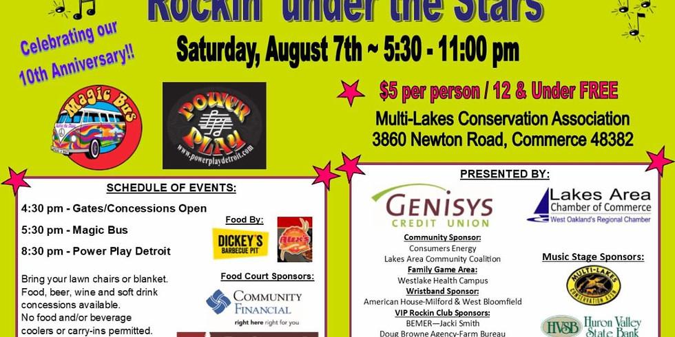 Volunteer-Rockin' Under The Stars concert event
