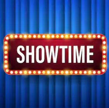 showtime-text-electric-bulbs-frame-260nw