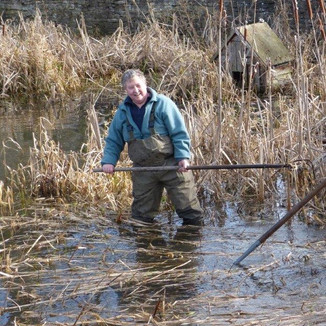 Me (Carol Malin) pond clearing.