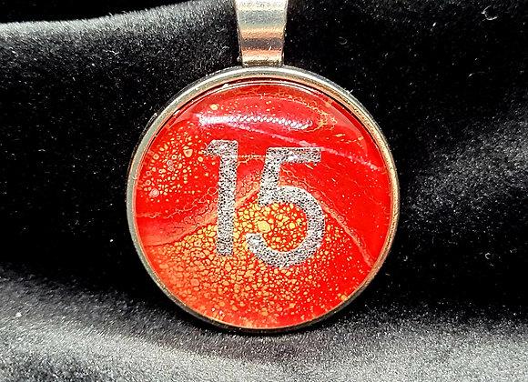 KC Chiefs '15'  Pendant Necklace
