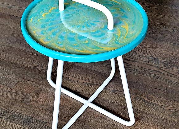 Paint Poured 'Garden' Table