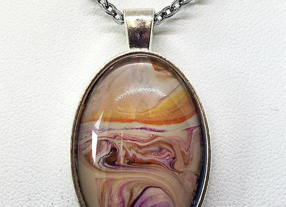 Oval Simple Pendant Necklace