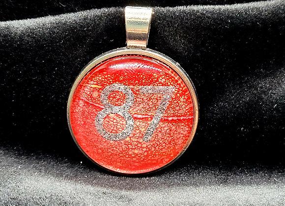 KC Chiefs '87' Pendant Necklace