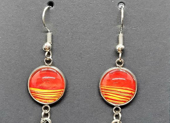KC Chiefs Dangle Earrings