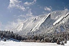 Flatirons in the Snow 2 (Beautiful Plane