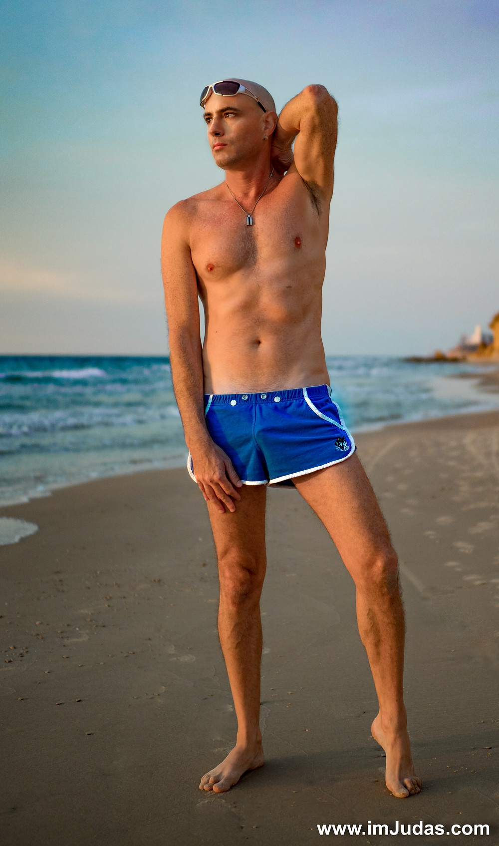 shirtless make man model beach portrait gay