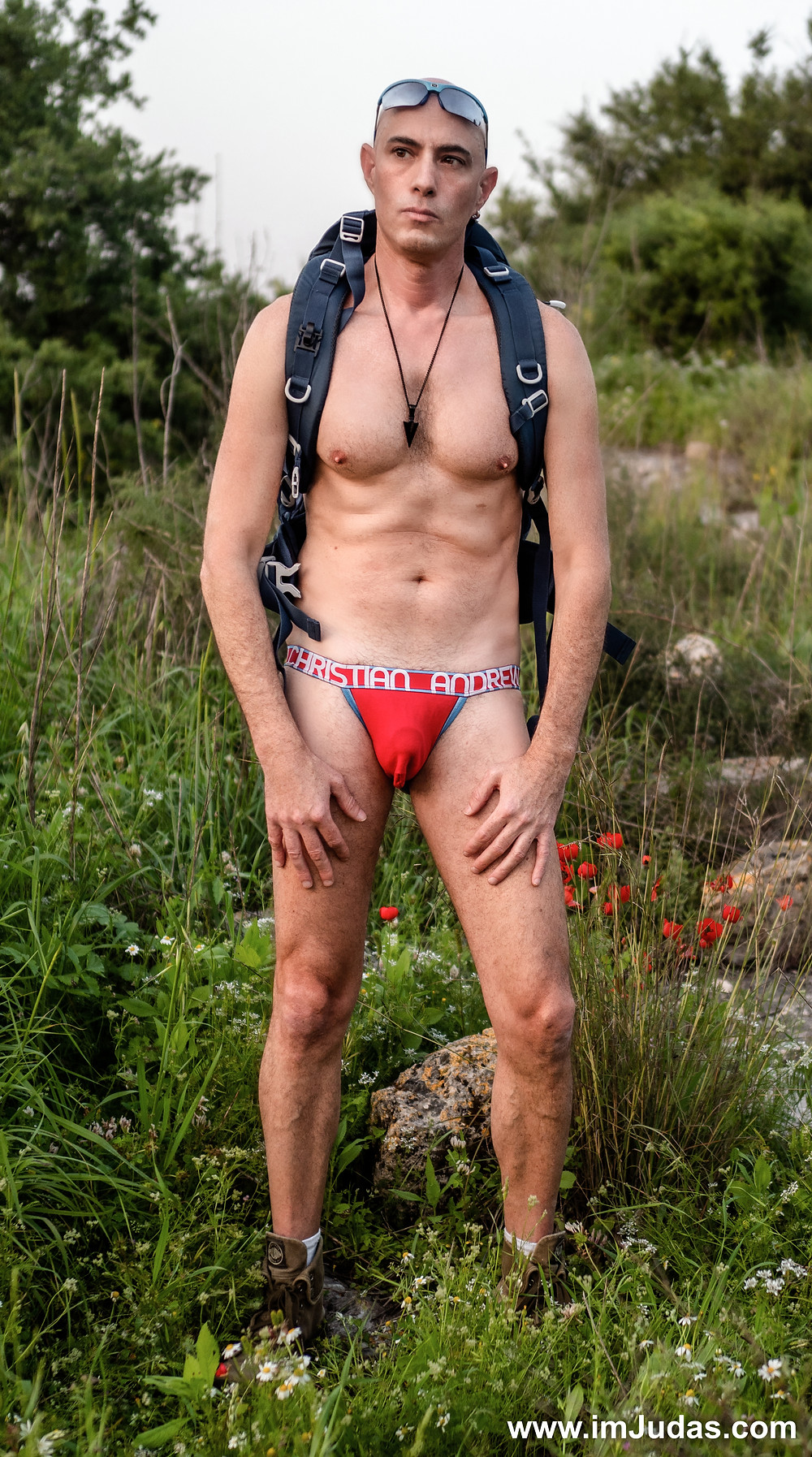 Hiking in my read underwear