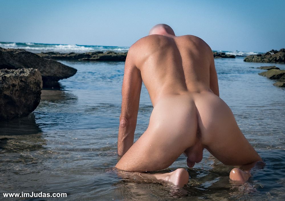 Naked at the beach