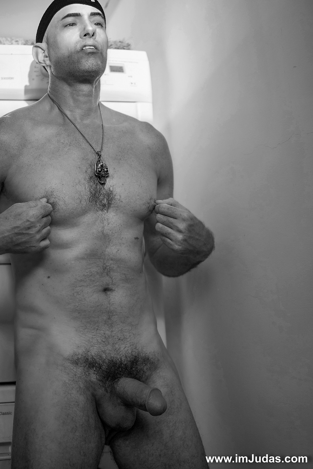 Naked showing my cock in my laundry room