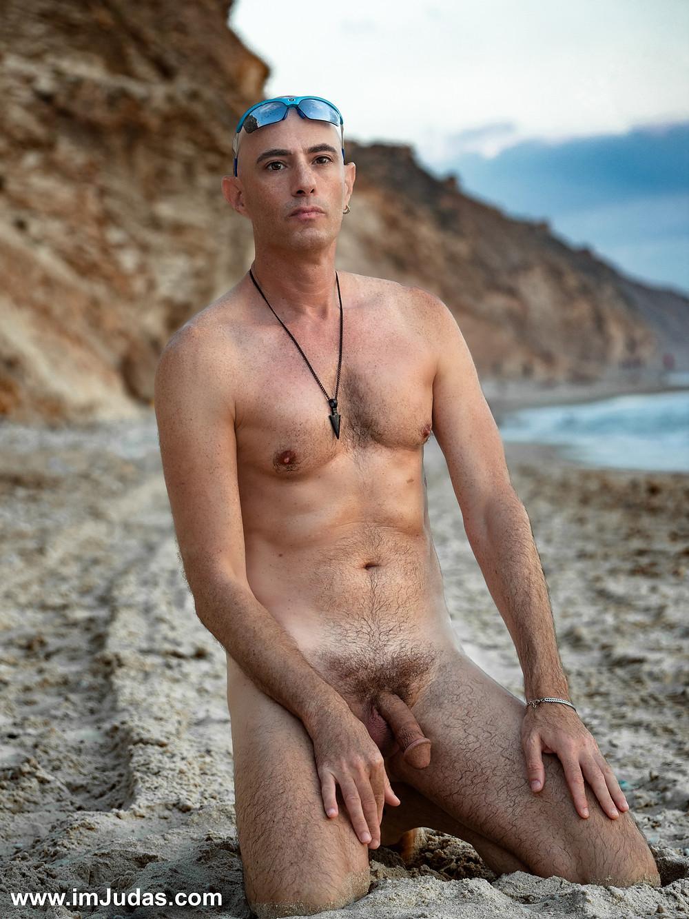 A naked man