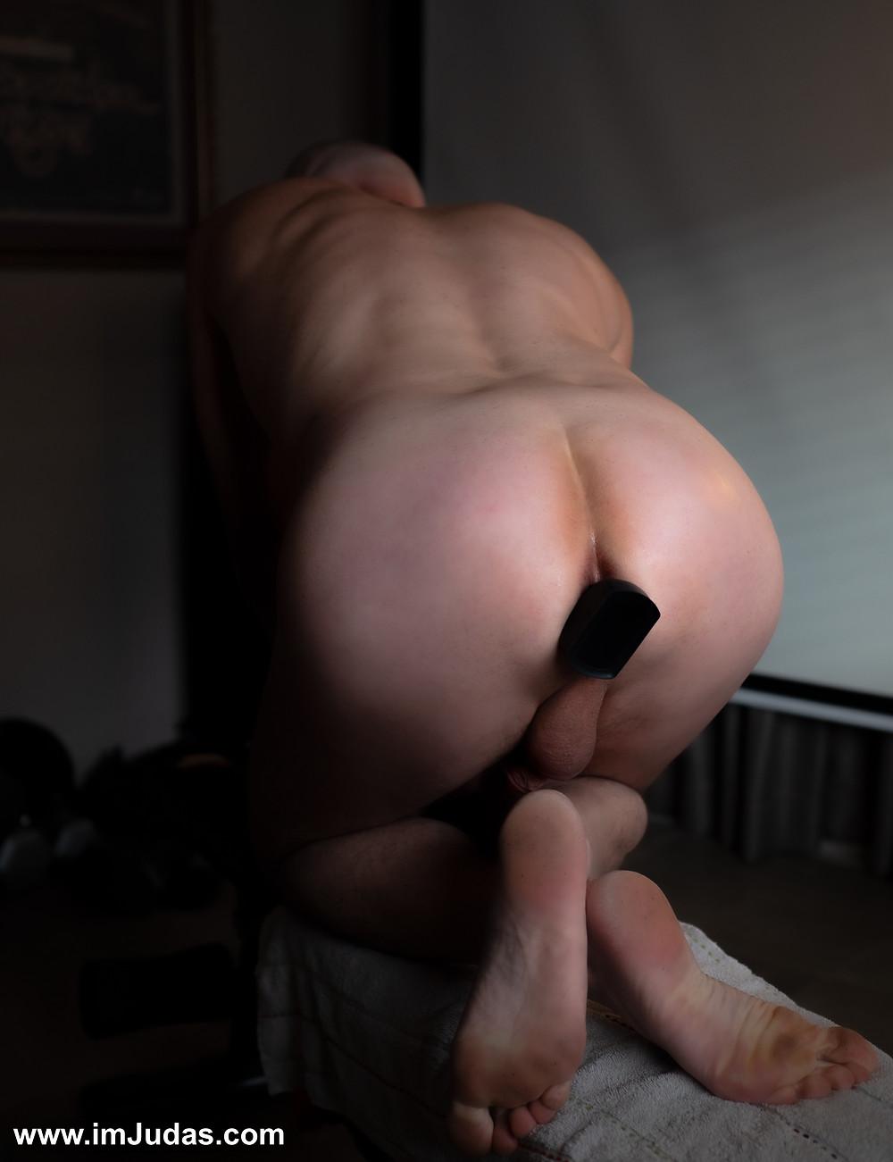 An anal vibrator in my ass