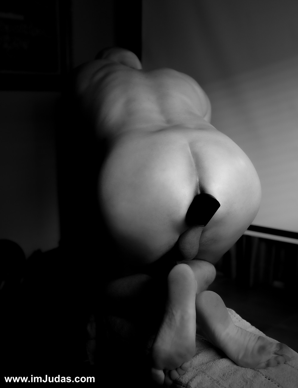 Enjoying my anal vibrator after working out