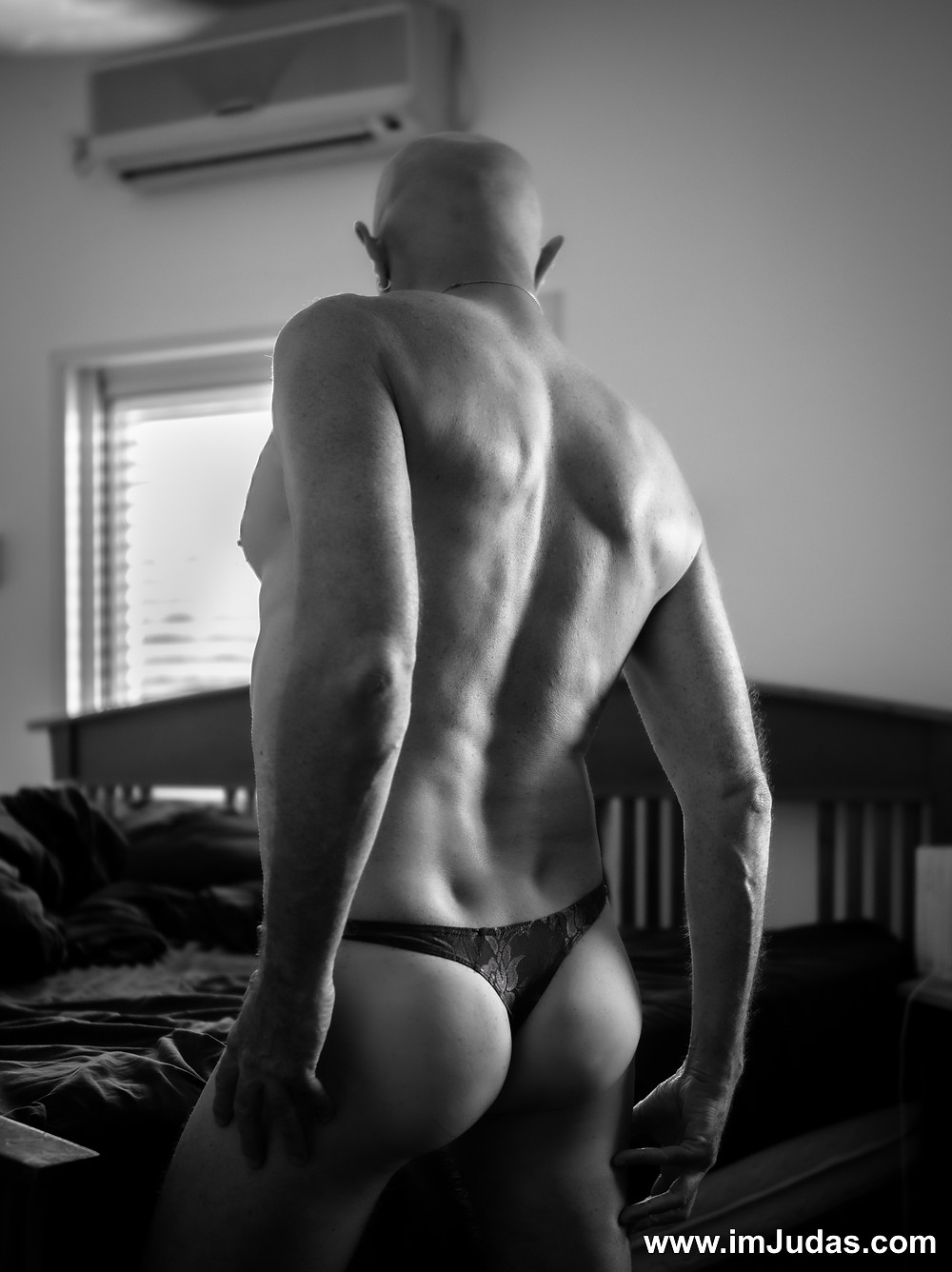 Gidi didn't notice my thong; he nearly tore it apart when undressing me.