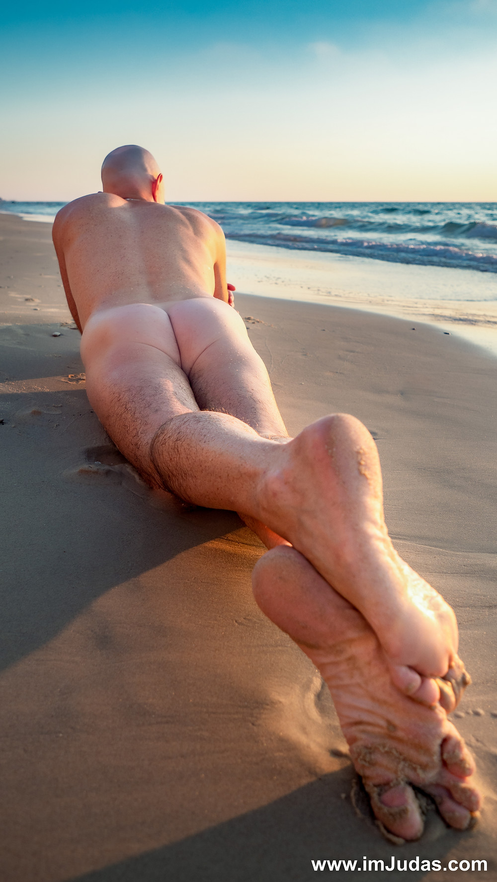 naked ass beach model male nude