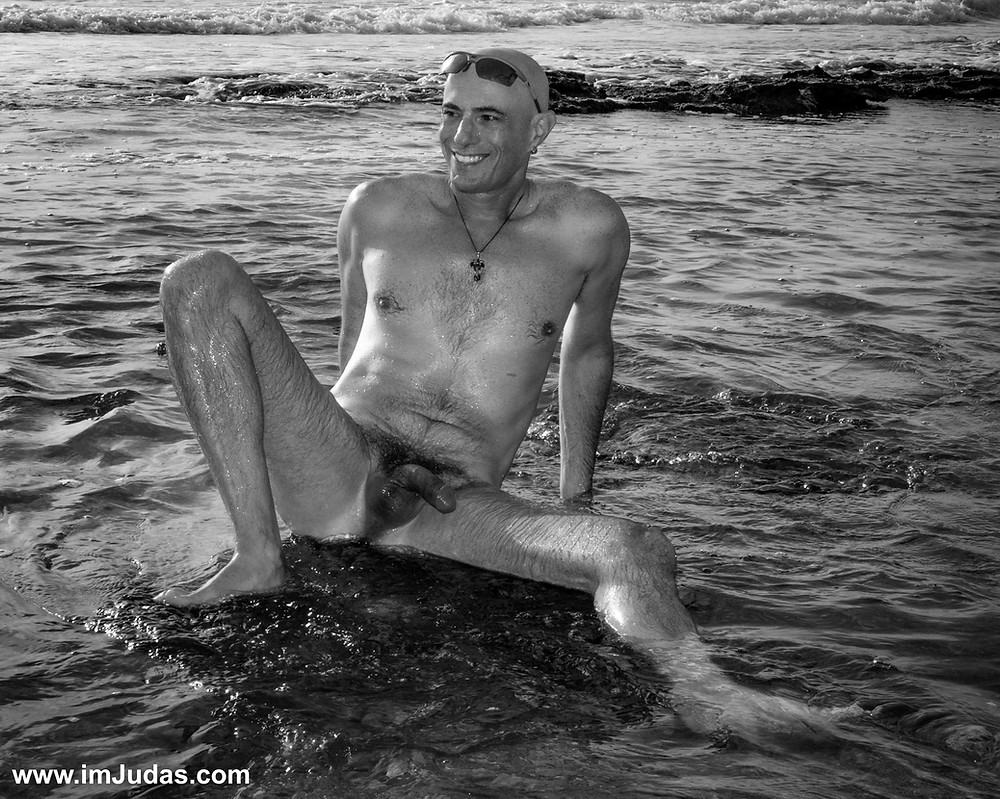 It was fun to sit with him naked in the pools.