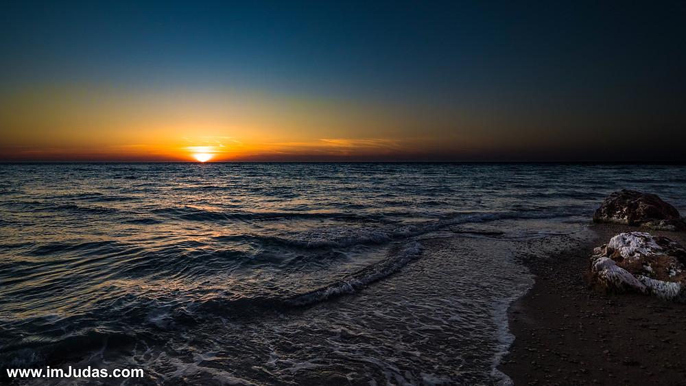 Sunset at the nudist beach