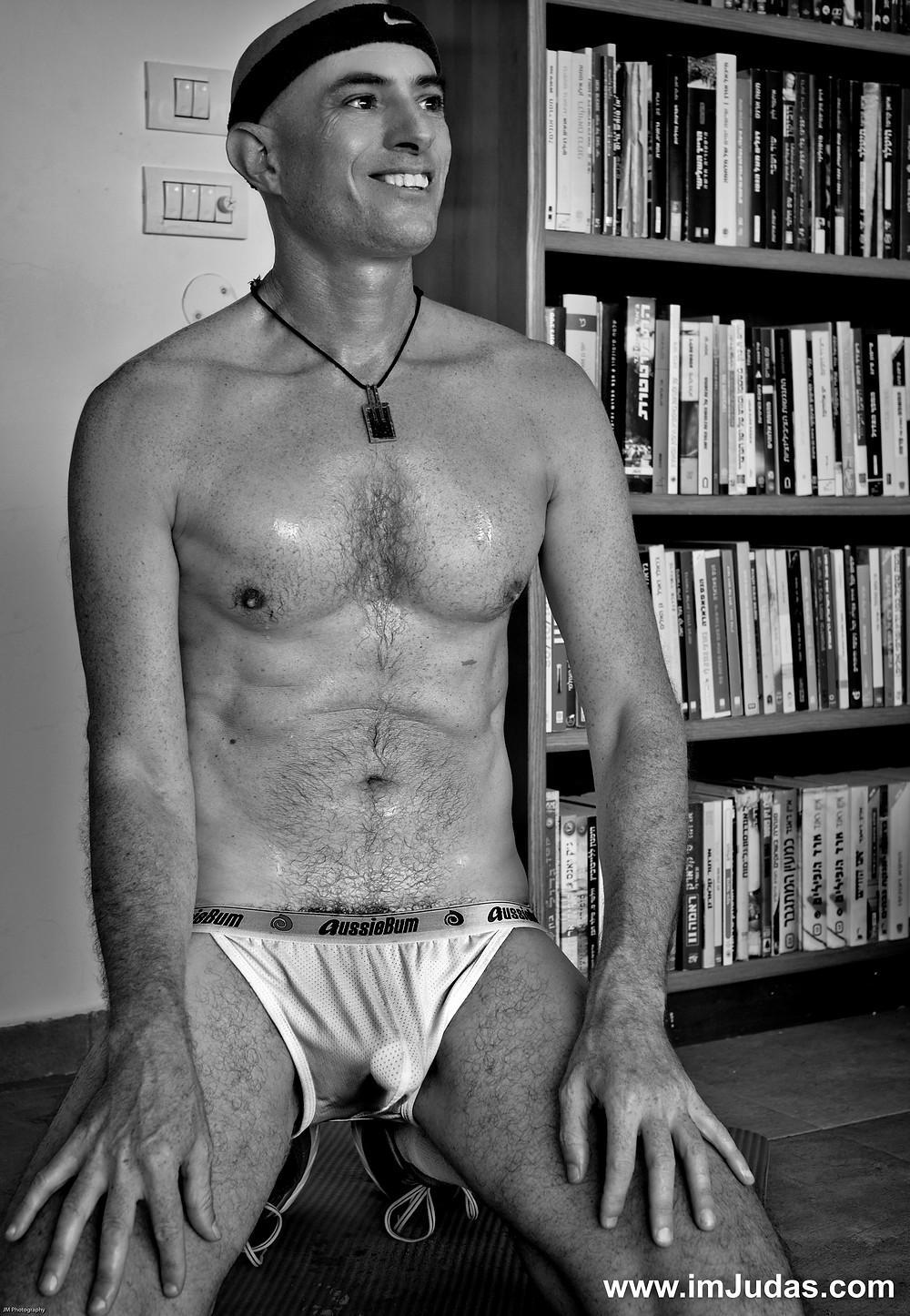 A guy in underwear