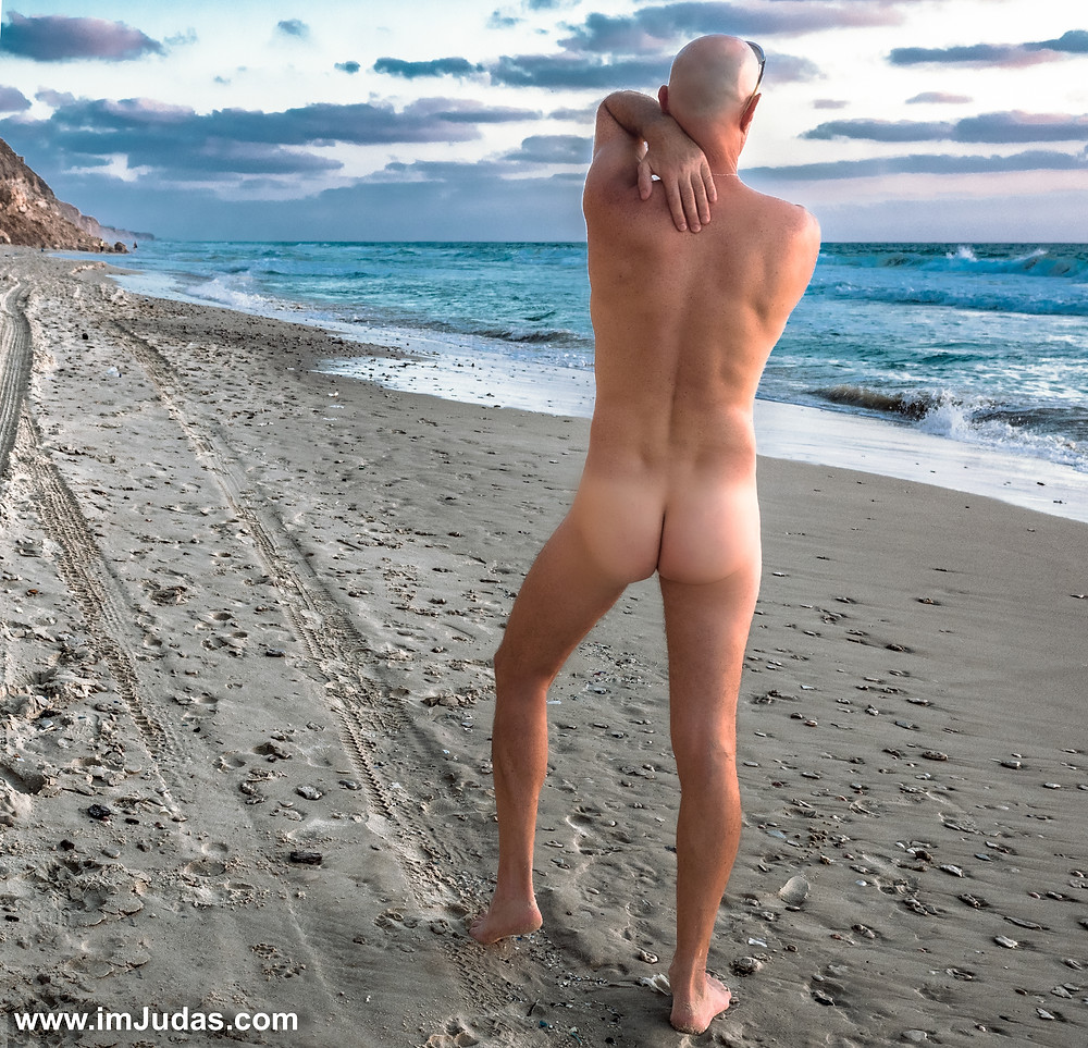 My white ass at the nudist beach