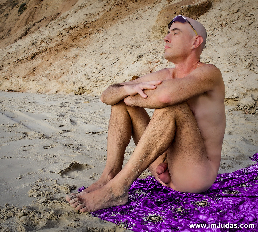 cock naked beach man male model