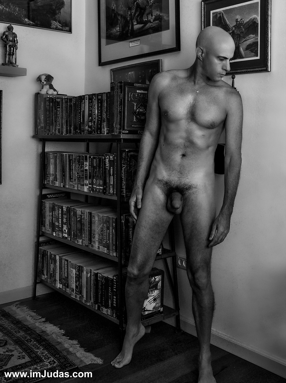 Naked indoors