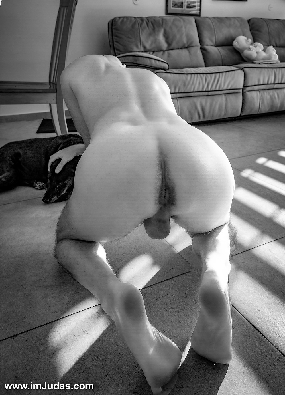 Naked in my living room