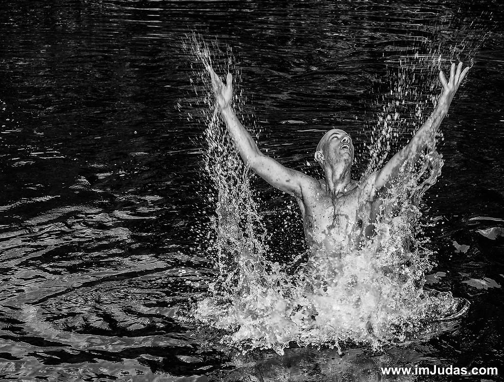 """Jordan River"" shirtless swimming Israel"