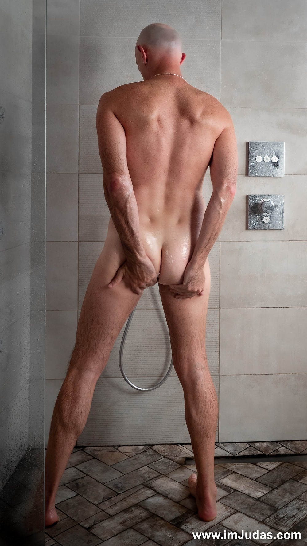 Playing with my love hole during my morning shower