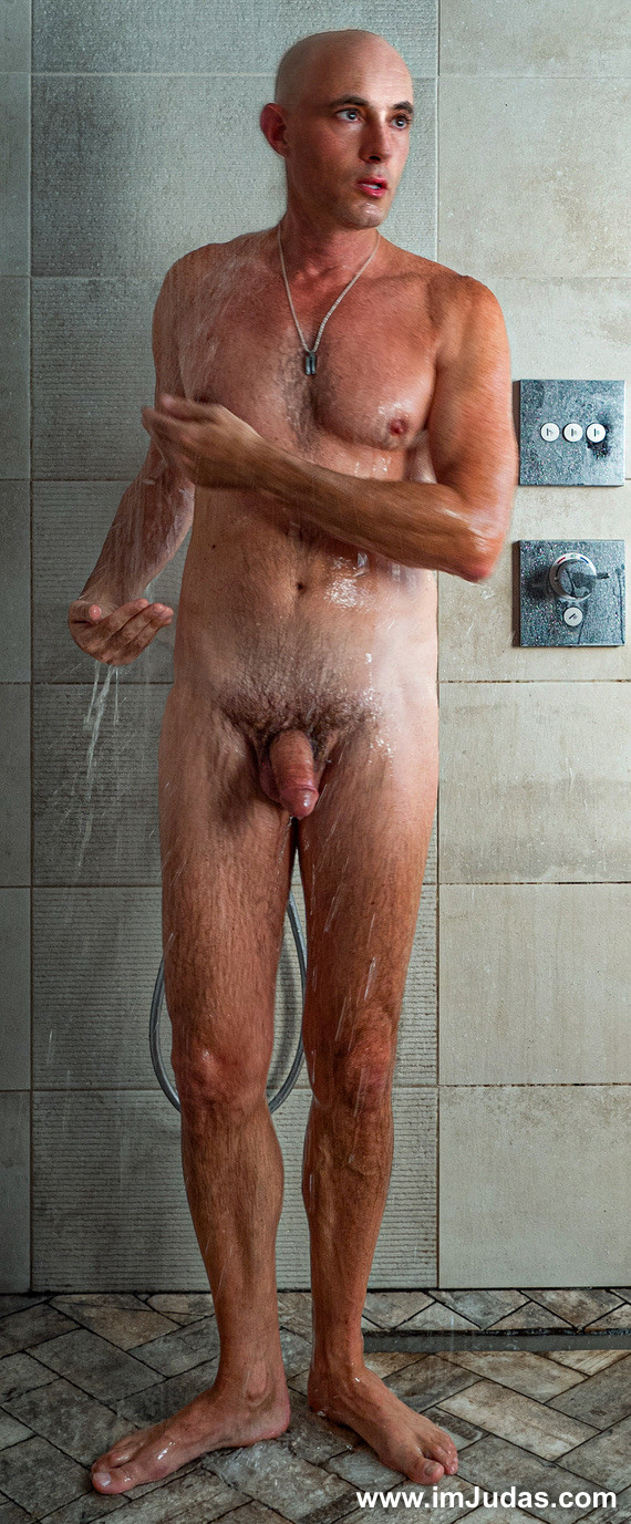 Naked in the shower