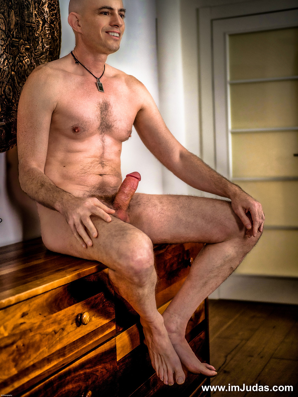naked nude male model cock erect hard