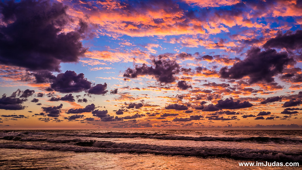 sunset beach cloud dramatic