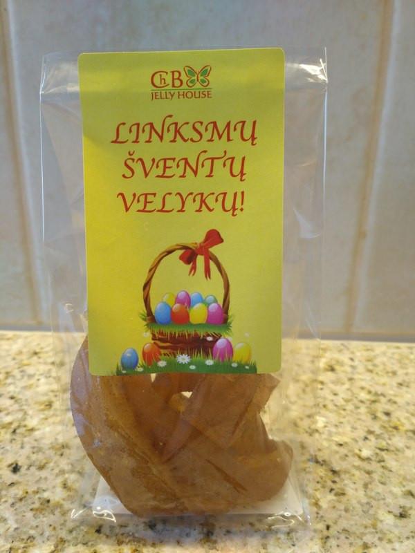 Velykiniai saldainiai su sultimis maišelyje