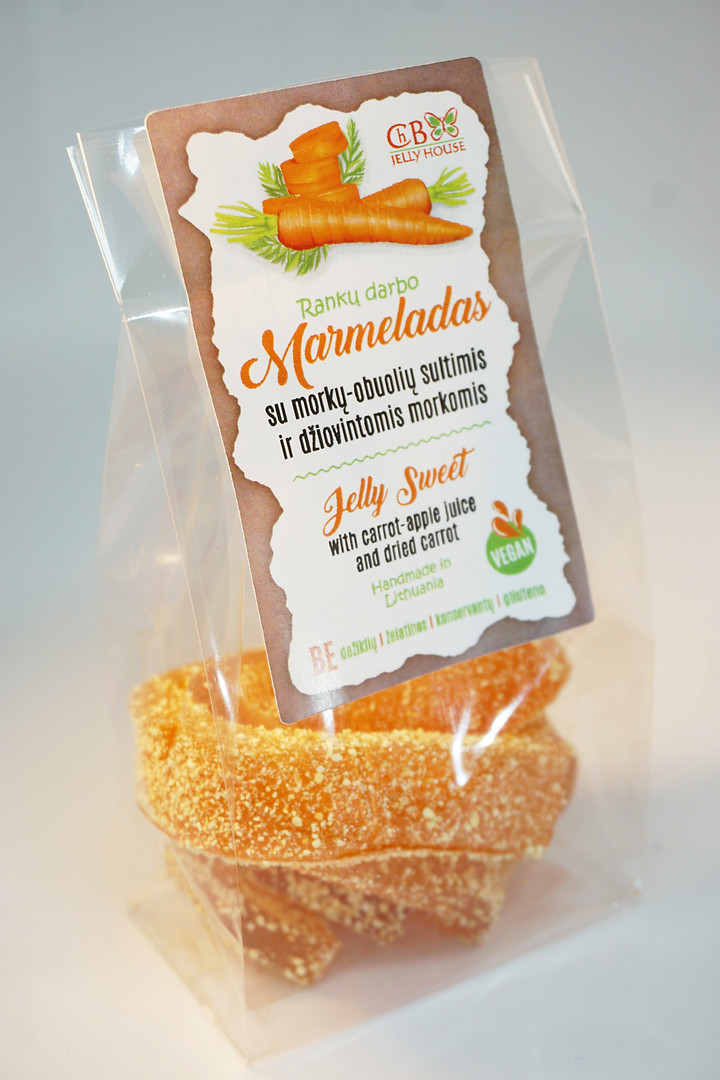 Marmeladas su morkų-obuolių sultimis