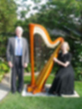 Ken with alto flute, harp & Sue
