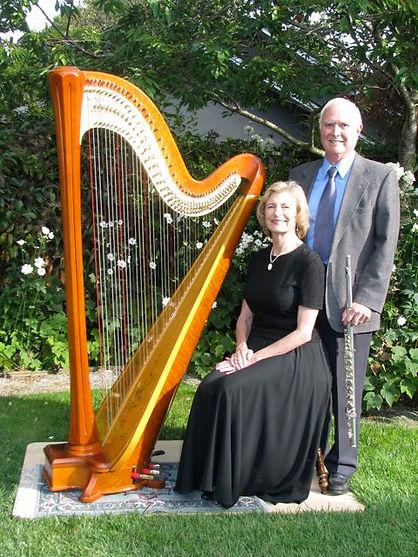 Harp, Sue & Ken with alto flute