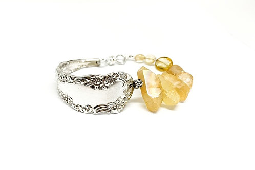 Signature Bracelet with Yellow Crystal