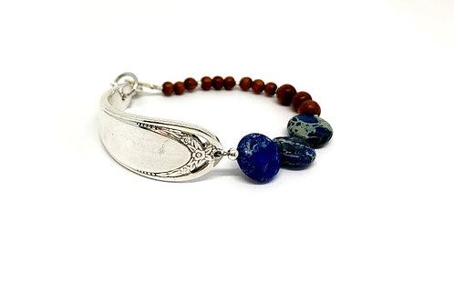 Signature Bracelet with blue Imperial Jasper stone