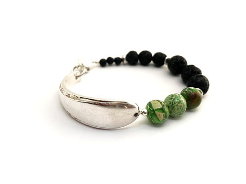 Signature Bracelet with Lava Beads