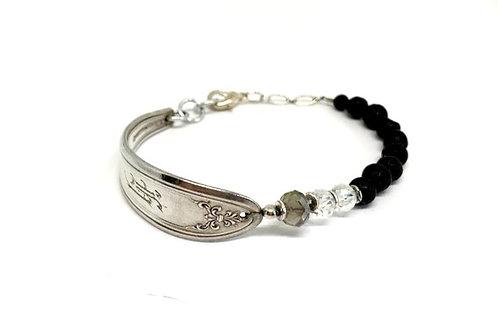 Signature Bracelet with Lava Beads