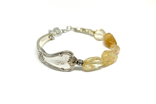 Signature Bracelet with Citrine crystal