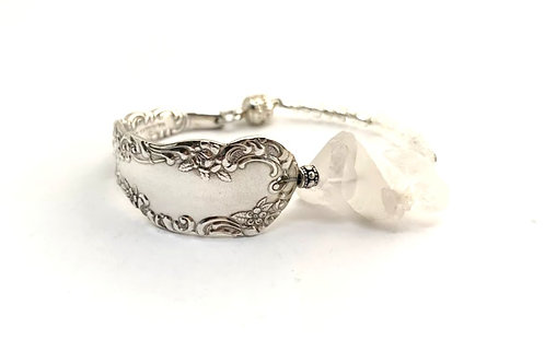 Signature Bracelet with white crystal chunks
