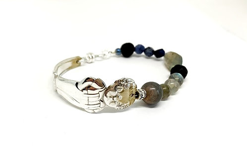 Signature Bracelet with Labradorite stone