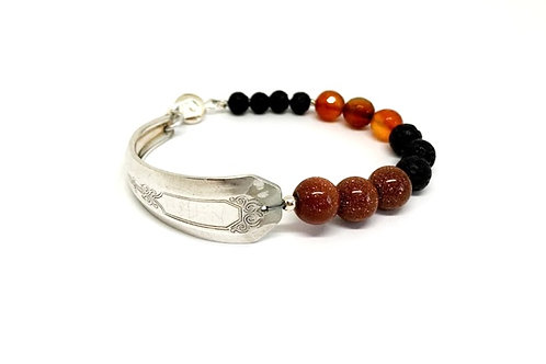 Classic Bracelet with Lava Beads
