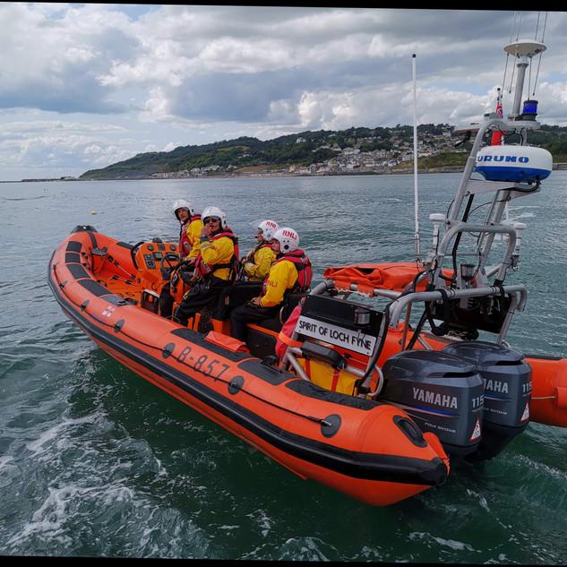 Lyme Regis RNLI crew