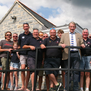 Boycie pictured with volunteer crew